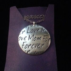 Jewelry - Love Mom Forever round pendant necklace NWOT